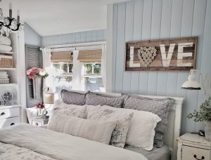 Bamboo Shades are the perfect accent in this vintage beach vibe decor by @shiplapandshells.
