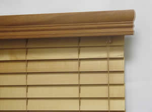 Wood Blinds with Accent Valance