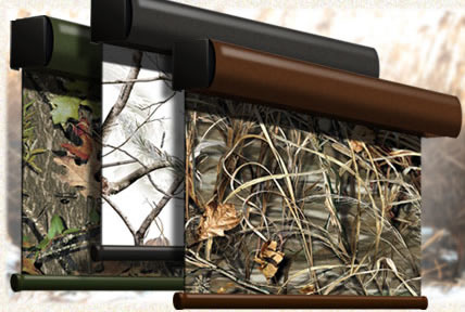 curtains season window for deer camo your hunting blind blinds