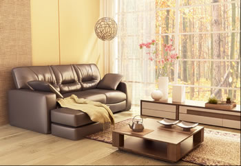 Living Room Furniture With Large Window