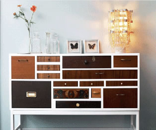 Mismatched dresser drawers