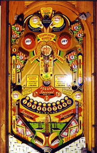Pinball machine sideboard