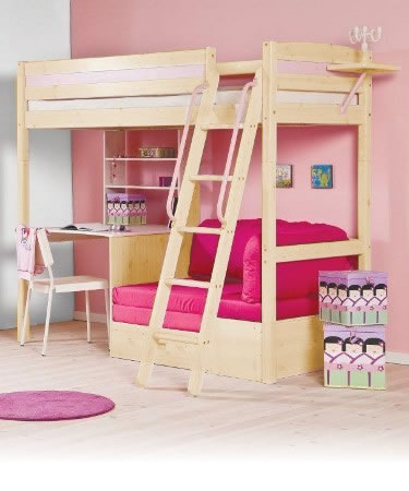 build a bear bunk bed with desk