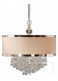 copper and silver chandelier