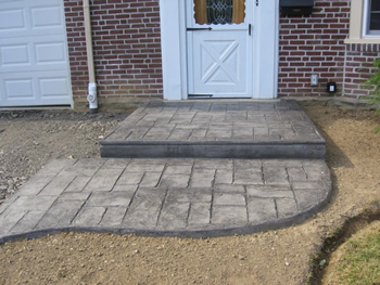 Stamped Concrete Patio Finished Look