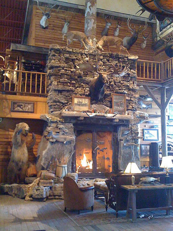 stone fireplace design