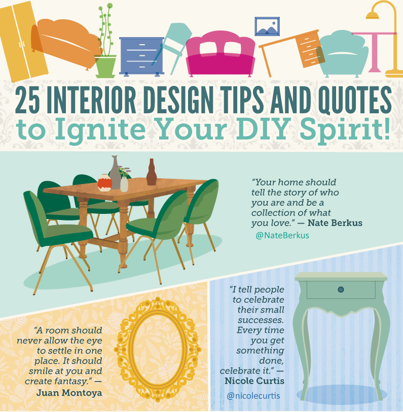 25 Interior Design Tips And Quotes To Ignite Your DIY Spirit (Infographic)