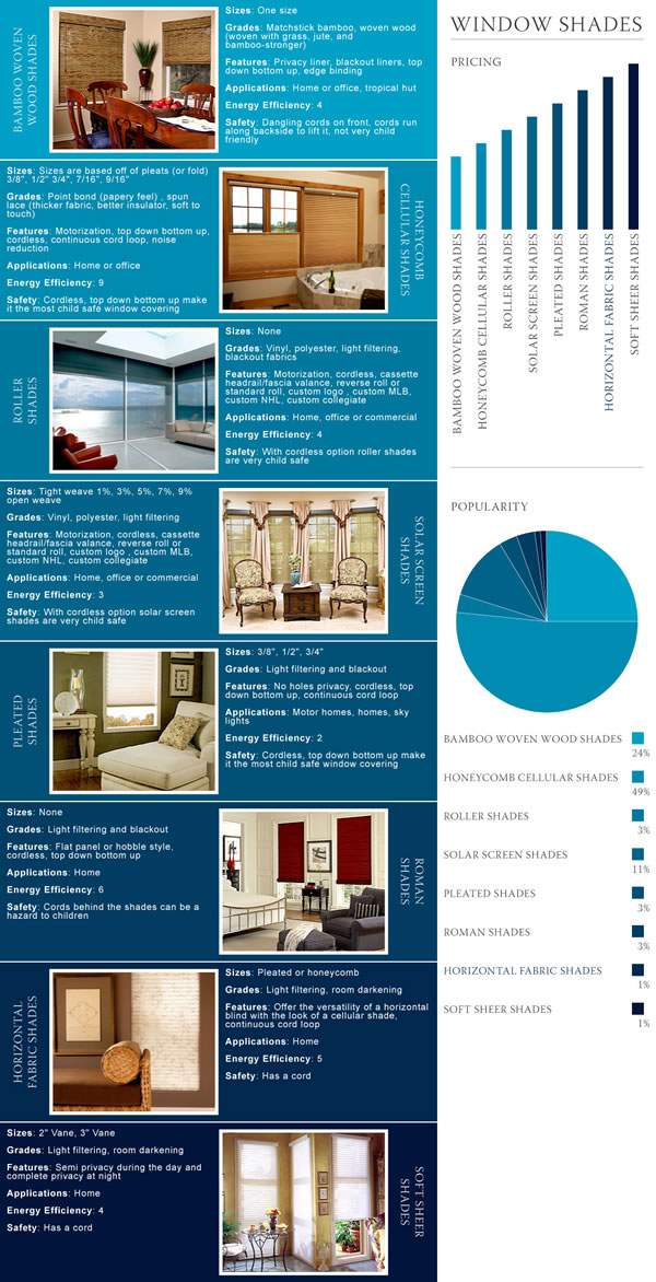 Window Shades Infographic