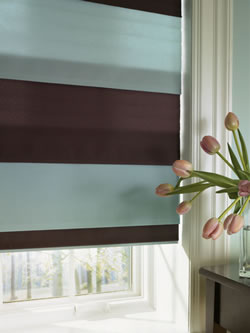 two tone two color roman shades