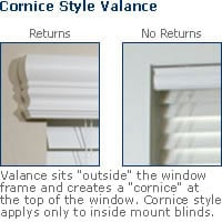 wood blind valance returns