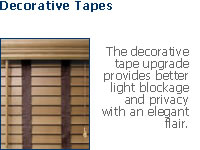 decorative tape blinds
