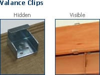 wood blind valance clips