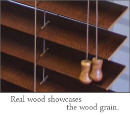 real wood showcases the grain