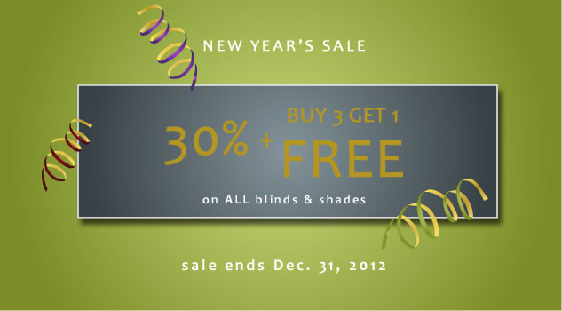 New Years Sale! 30% + Buy 3 Get 1 FREE!