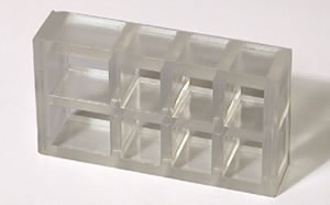 window blind spacer block