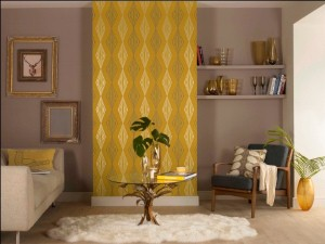 Wallpaper can be used in many different ways as a room accent.