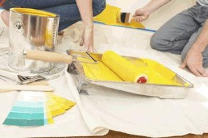 Homeowners can save on decorating costs by doing many things themselves.