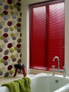 Go for red blinds for a pop of color.