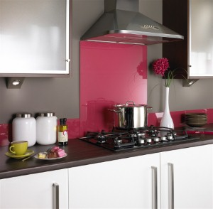 Bold colors coordinate well with stainless steel kitchen appliances.