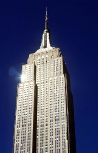 The Empire State Building in New York City is one of the images in the Cityscapes roller shades collection.