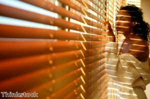 Faux wood blinds have the rich look of wood, but are easily maintained.
