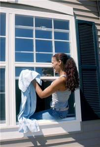 Installing eco-friendly window shades is one of the steps homeowners can take to save energy.
