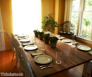 Selecting a new wall color or furniture arrangement can brighten a dining room.
