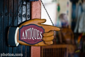 Antiques can be coordinated with modern items in a room design.