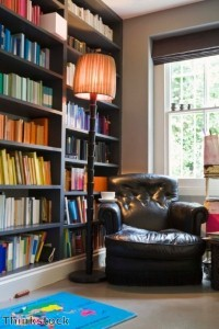 Finding a quiet corner for reading and relaxing adds to a guest's comfort during a holiday visit.