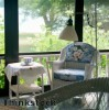 Create a screened-in haven  with breezy window treatments