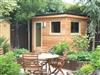 Convert a shed into a retreat with interior shutters