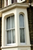 Alleviate bay window worries with Roman shades