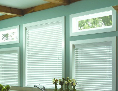 Tan Embassy 2 inch Faux Wood Blinds