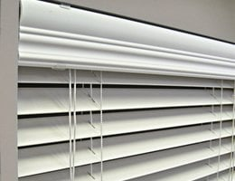 Cream Express 2 inch Faux Wood Blinds