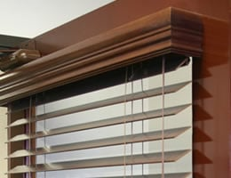 Tan Embassy 2 inch Wood Blinds
