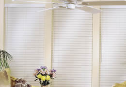 Cream Express 2 1/2 inch Faux Wood Blinds