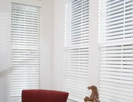 Red Classic 2 inch Faux Wood Blinds