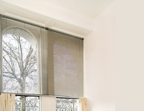 Grey Embassy 1/2 inch Micro Blinds