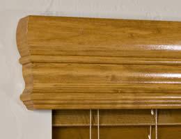Premier Real Wood Valance Crown Window Blinds Valances