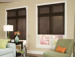 Black Solar Screen Shades - 5% Openness