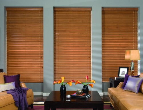 Tan Signature 2 inch Wood Blinds