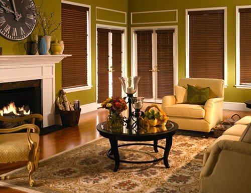 Pecan Signature Composite 2 inch Faux Wood Blinds