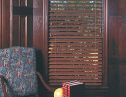 Chestnut QUICK SHIP - Budget Deluxe 2 inch Wood Blinds