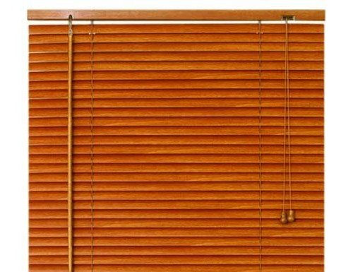 Oak Wood Look 1 inch Aluminum Mini Blinds