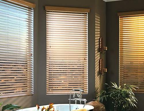 Tan Signature 2 1/2 inch Wood Blinds