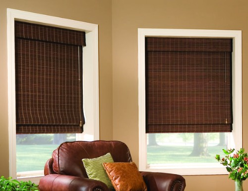 Signature Privacy Woven Wood Shades
