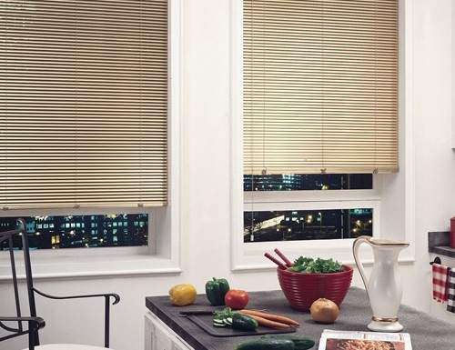 Cream 1 Inch 8 Gauge Aluminum Blinds