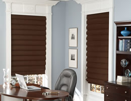 Brown Lumina Suede Roman Shades