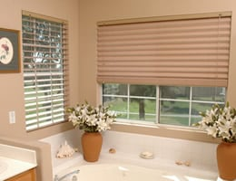 Green Horizontal Fabric Shades - Solid Colors