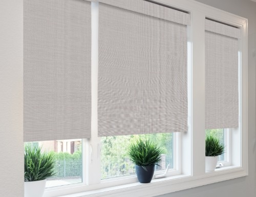 Red Tavarua Woven Wood Shades